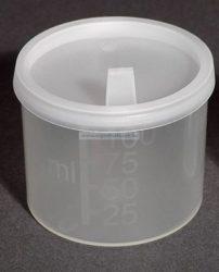 Vizeletes pohár, pattintós fedéllel, műanyag 100 ml  /steril/