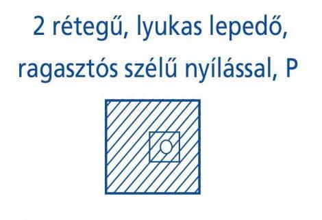 Hartmann Foliodrape Izoláló lepedő rag.szélű lyukkal P 50x60 cm 70db