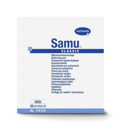 Hartmann Samu mini nőgyógyógyászati betét 6,5x22 cm 20db