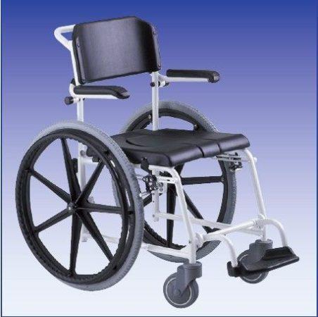 """McWet, Tusoló- és WC szék, önhajtos 24"""" fix kerékkel"""