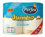 Boni Perfex Jumbo Deluxe 300lap papírtörlő 2 rétegű - 2 tekercs