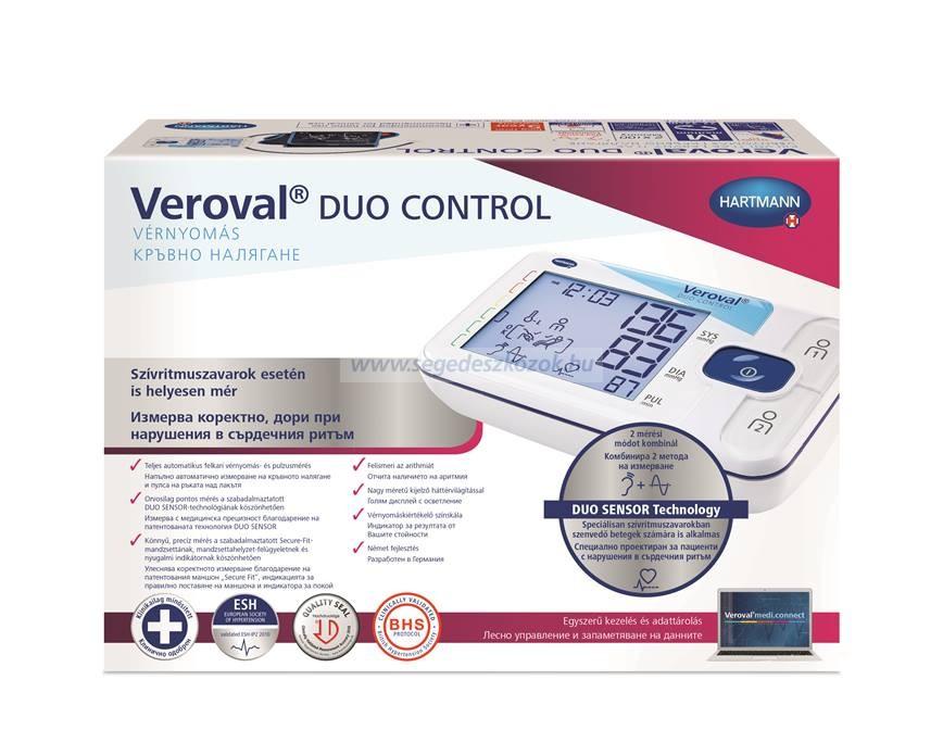 Hartmann Veroval duo control felkaros vérnyomásmérő (normál)