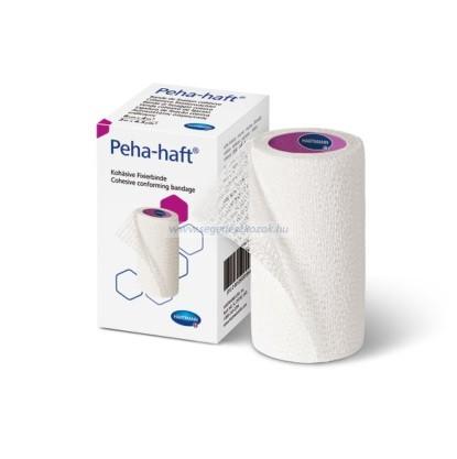 Hartmann Peha-haft pólyák, 10cmx4m  nyújtva 4 m hosszú, egyenként csomagolva latex mentes
