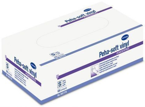 Hartmann Peha-soft vinyl púdermentes kesztyű L méret 100db