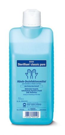 Hartmann Sterillium Classic Pure 1000ml, illat-és színezőanyagmentes 1db