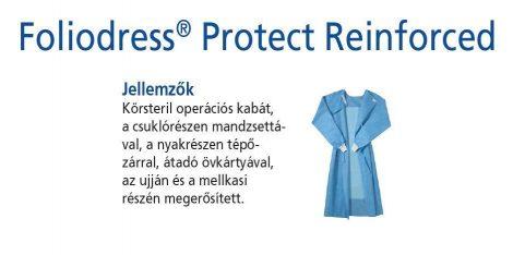 Hartmann Foliodress műtéti kabát Protect megerősített, krepp+törlővel M 36db