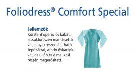 Hartmann Foliodress műtéti kabát Comfort Special megerősített, krepp+törlővel L 28db