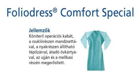 Hartmann Foliodress műtéti kabát Comfort Special megerősített, krepp+törlővel XL 28db