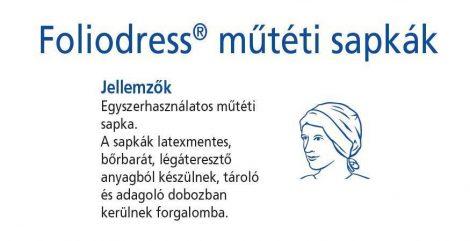 Hartmann Foliodress műtéti sapka Apart Comfort  100db