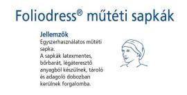 Hartmann Foliodress műtéti sapka Rondo plus Comfort  100db