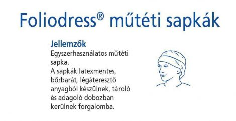 Hartmann Foliodress műtéti sapka Form plus Comfort  60db