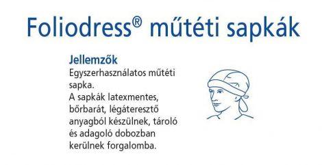 Hartmann Foliodress műtéti sapka Bandana Comfort  100db